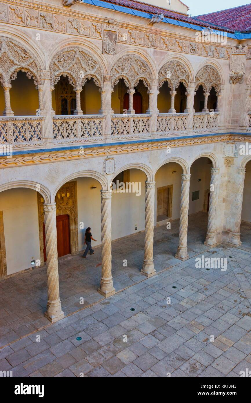Central Courtyard. Sculpture National Museum Valladolid. Valladolid. Castilla Leon. Spain.. - Stock Image
