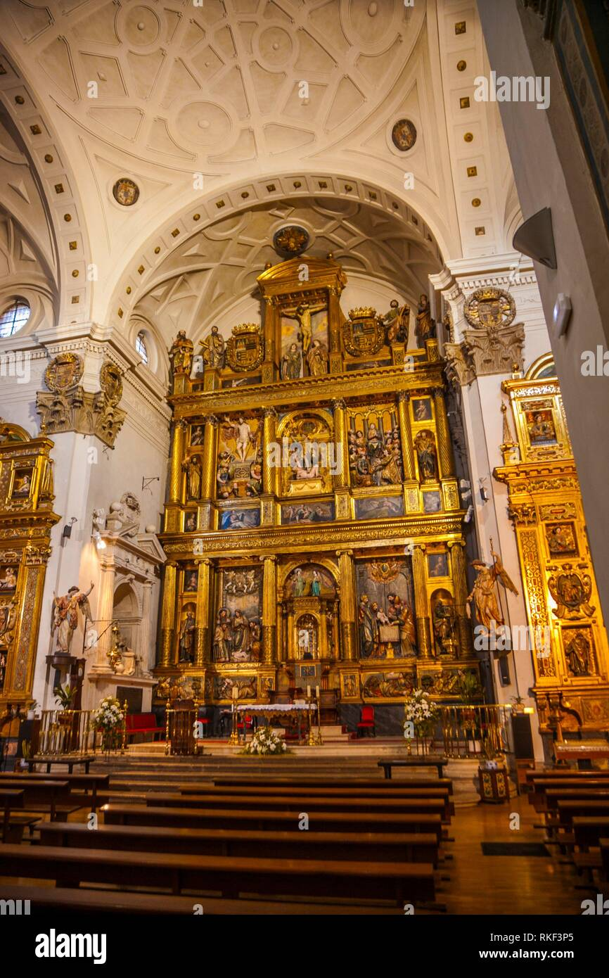St Miguel and St Julian Real Church, Valladolid, Castilla y Leon, Spain - Stock Image