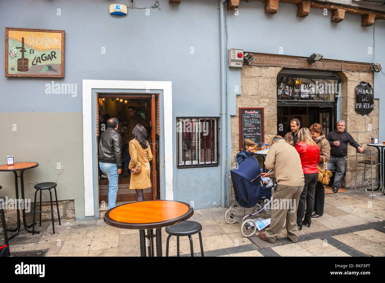El Lagar de San Martin Bar, Valladolid, Castilla y Leon, Spain Stock Photo