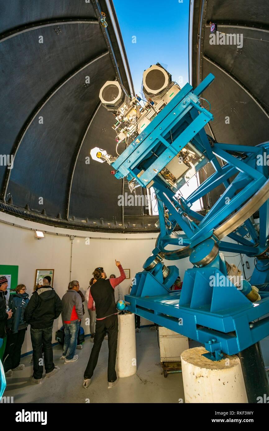Pic du Midi de Bigorre. Pic du Midi observatory. Luz-Saint Sauveur. Hautes-Pyrenees Department. Midi-Pyrenees Region. France - Stock Image