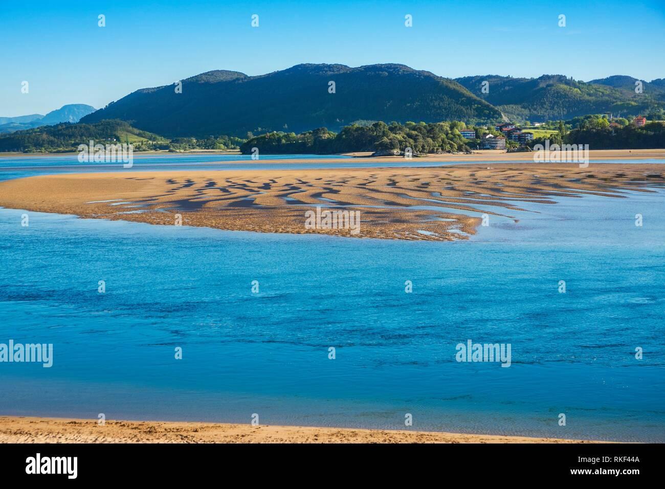 Laida Beach. Urdaibai biosphere reserve. Urdaibai Region. Bizkaia. Basque Country. Spain. - Stock Image