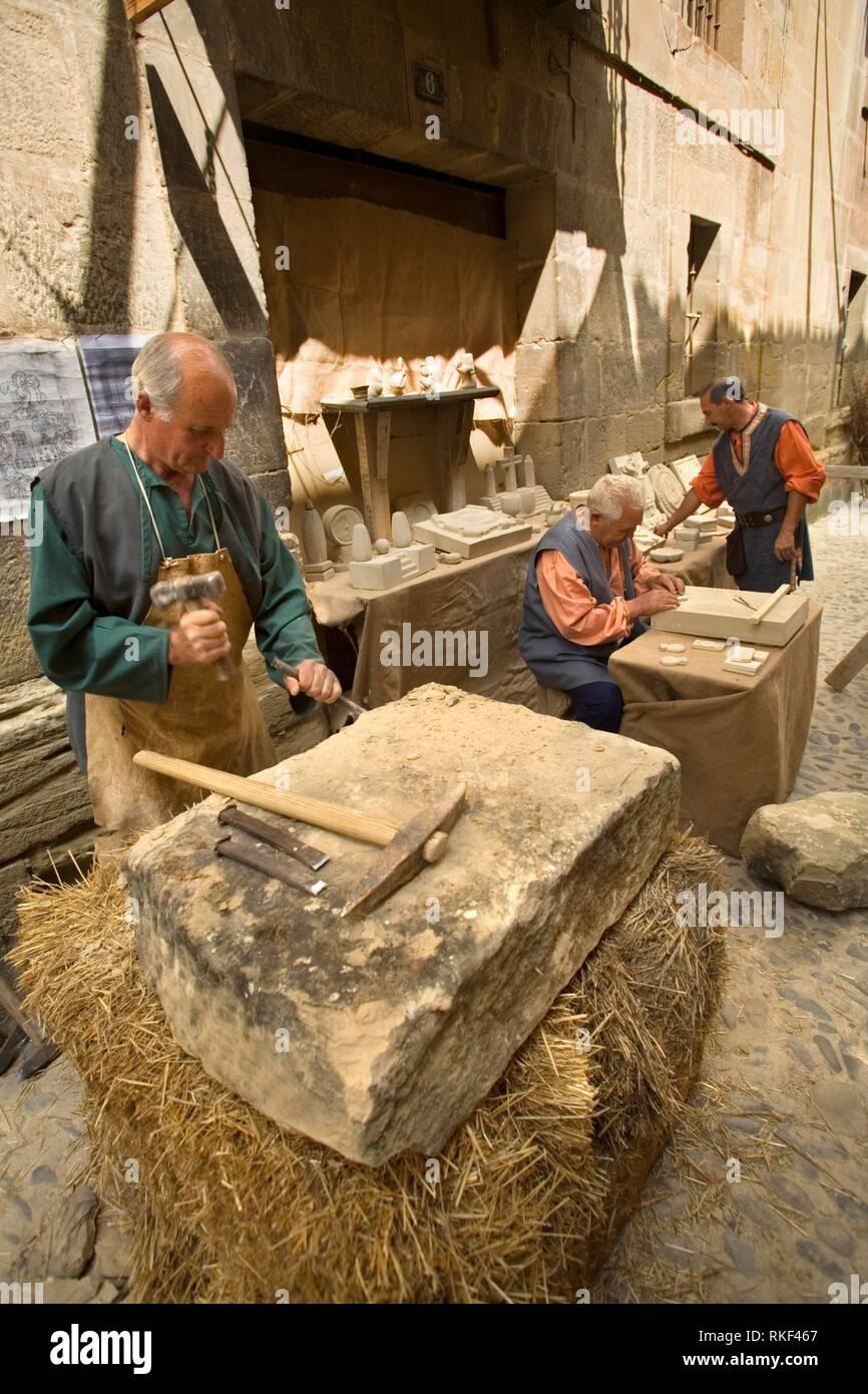 Stonemason  Historical reenactment of the life of a Castilian town