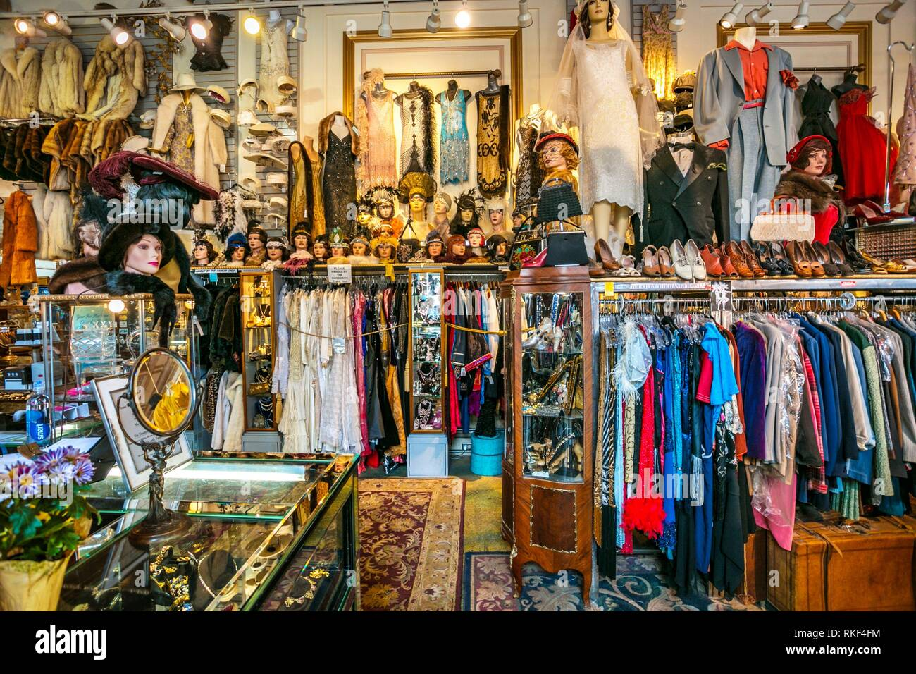Decades of fashion shop. Haight-Ashbury district. The neighborhood is known for being the origin of hippie counter culture. San Francisco. - Stock Image
