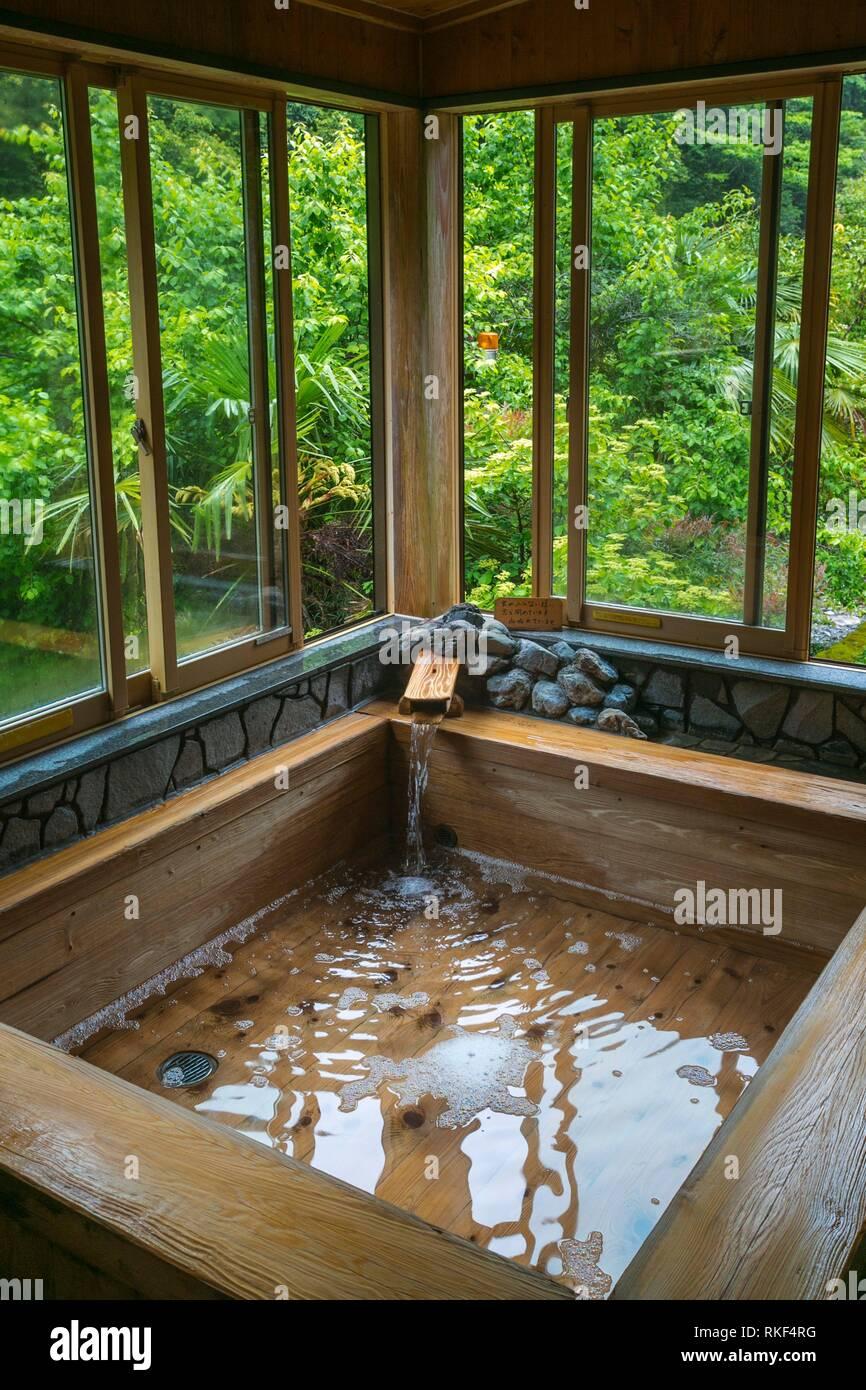 Kamigoten Ryokan. Traditional Japanese Inn. Ryujin Onsen hot spring village. Kumano Kodo pilgrimage route. UNESCO World Heritage Site. Wakayama - Stock Image