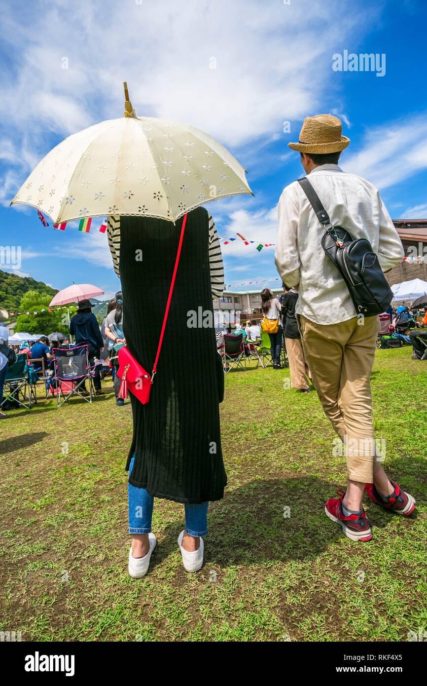 Kumano Kodo pilgrimage route. Shingu. Wakayama Prefecture. Kii Peninsula. Kansai region. Honshü Island. Japan UNESCO World Heritage Site. - Stock Image