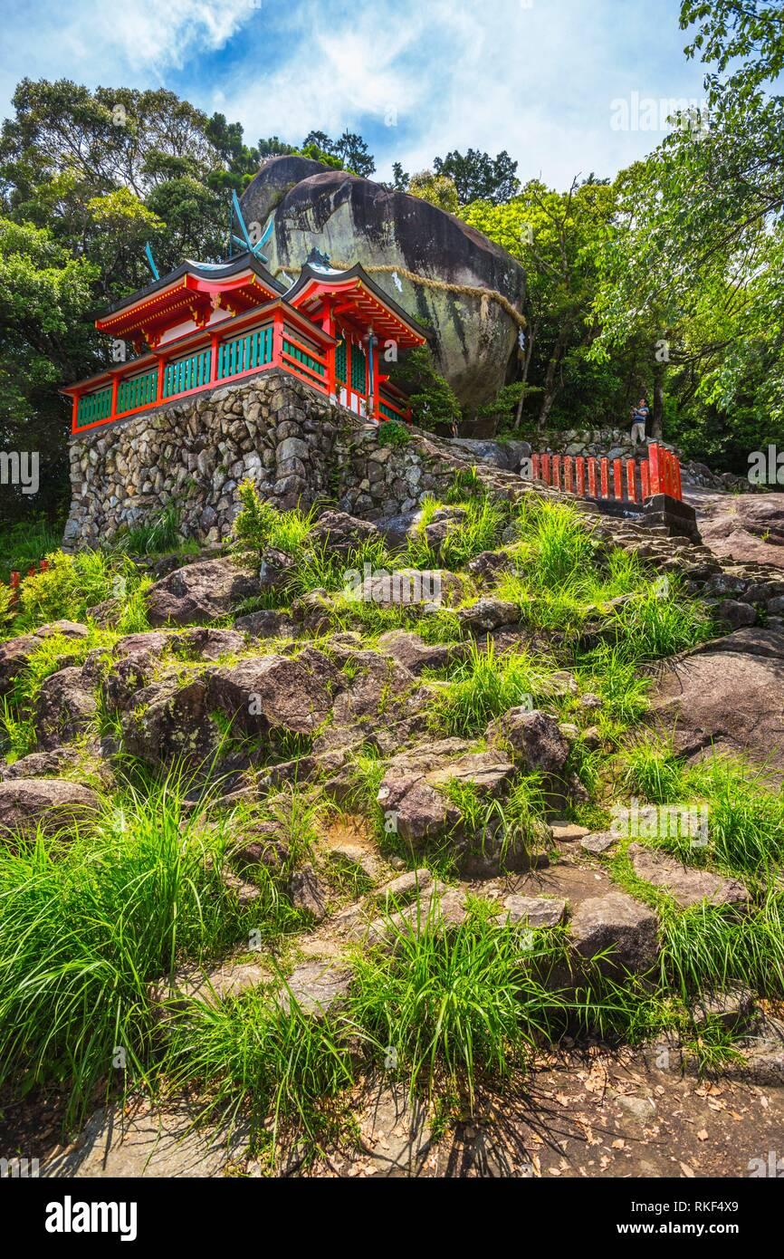Kumano Kodo pilgrimage route. Kamikura jinja Shrine. Kamikurayama mountain. Shingu. Kamikura. Wakayama Prefecture.; Kii Peninsula. Kansai region. - Stock Image