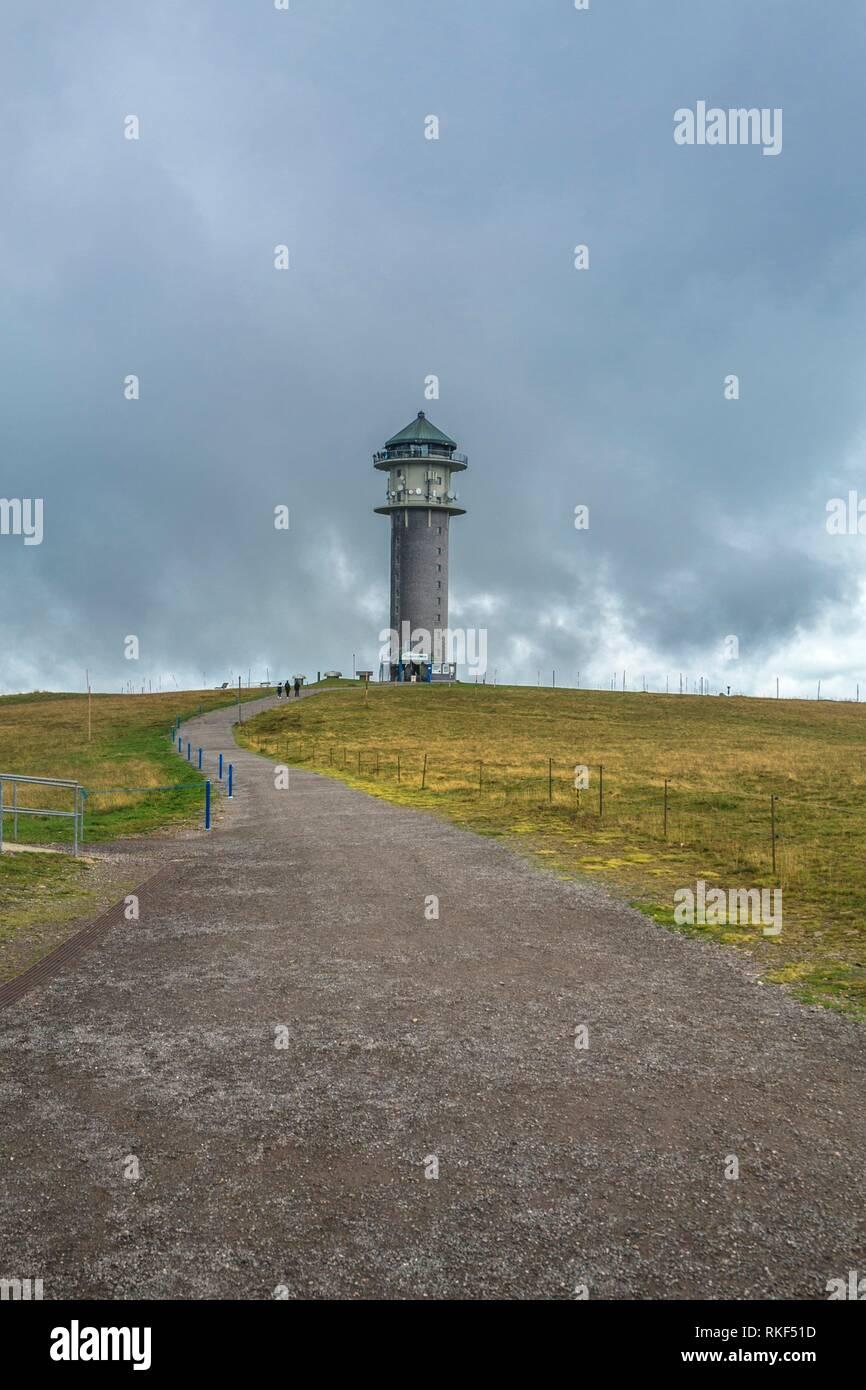 Feldberg tower. Feldberg Mountain. Black Forest. Baden-Wuerttemberg, Germany, Europe Stock Photo