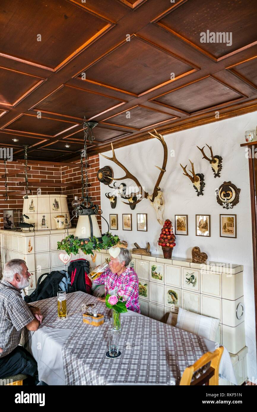 Waldeck restaurant. Menzenschwand. Black Forest. Baden Wurttemberg. Germany. Europe - Stock Image