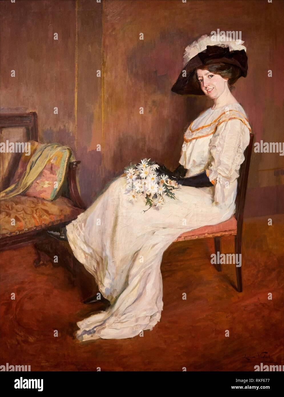 '''Portrait of Marta Vidal Puig'', c. 1907-1911, Lluïsa Vidal, National Museum of Catalan Art, Museu Nacional d Art de Catalunya, MNAC, Barcelona, - Stock Image