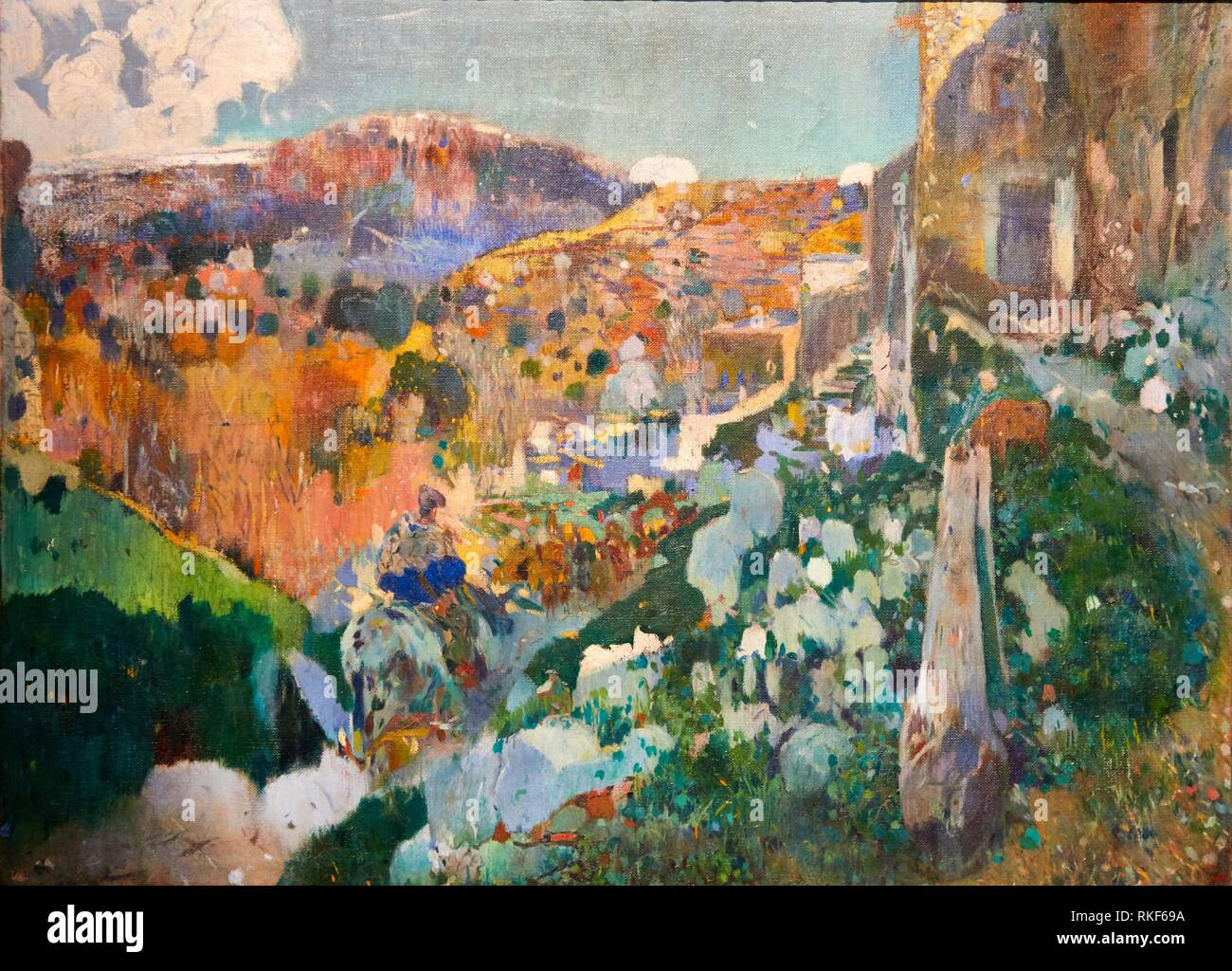 '''The Jewel'', c. 1910, Joaquim Mir, National Museum of Catalan Art, Museu Nacional d Art de Catalunya, MNAC, Barcelona, Spain, Europe - Stock Image