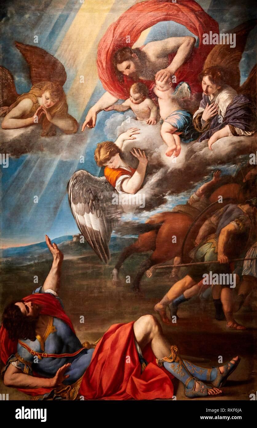 '''The Conversion of Saint Paul'', c. 1614, Juan Bautista Maíno, National Museum of Catalan Art, Museu Nacional d Art de Catalunya, MNAC, Barcelona, - Stock Image