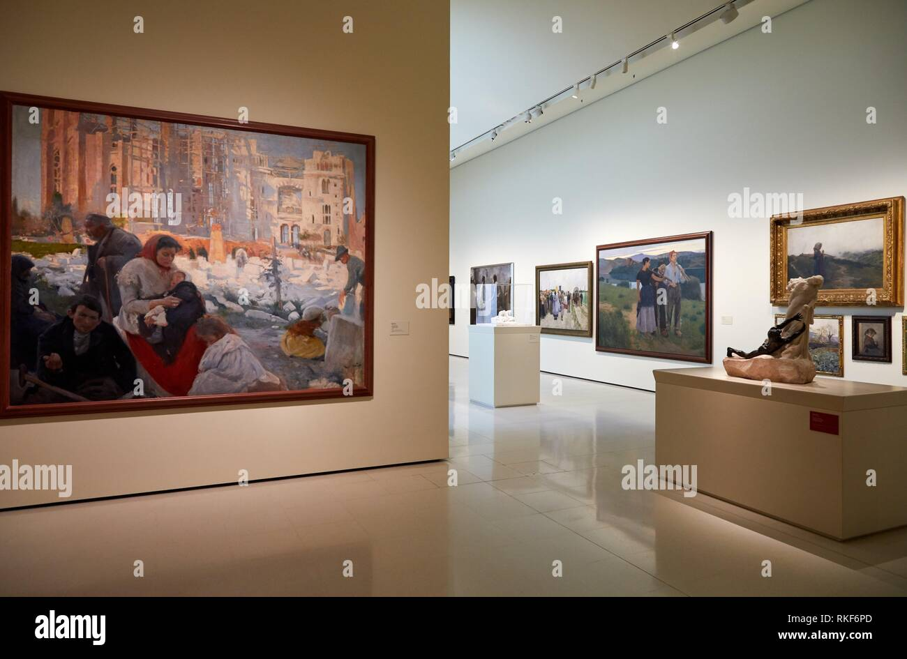 National Museum of Catalan Art, Museu Nacional d Art de Catalunya, MNAC, Barcelona, Spain, Europe - Stock Image