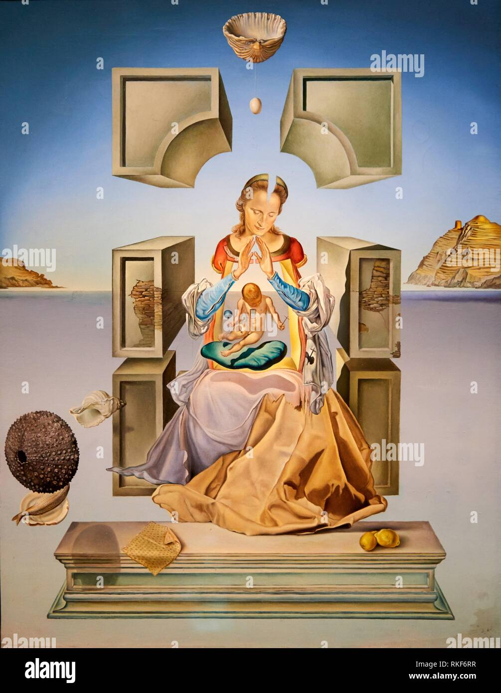 '''The Madonna of Portlligat (first version)'', 1949, Salvador Dalí, Exhibition ''Gala Salvador Dalí. A Room of One's Own in Púbol'', National Museum - Stock Image