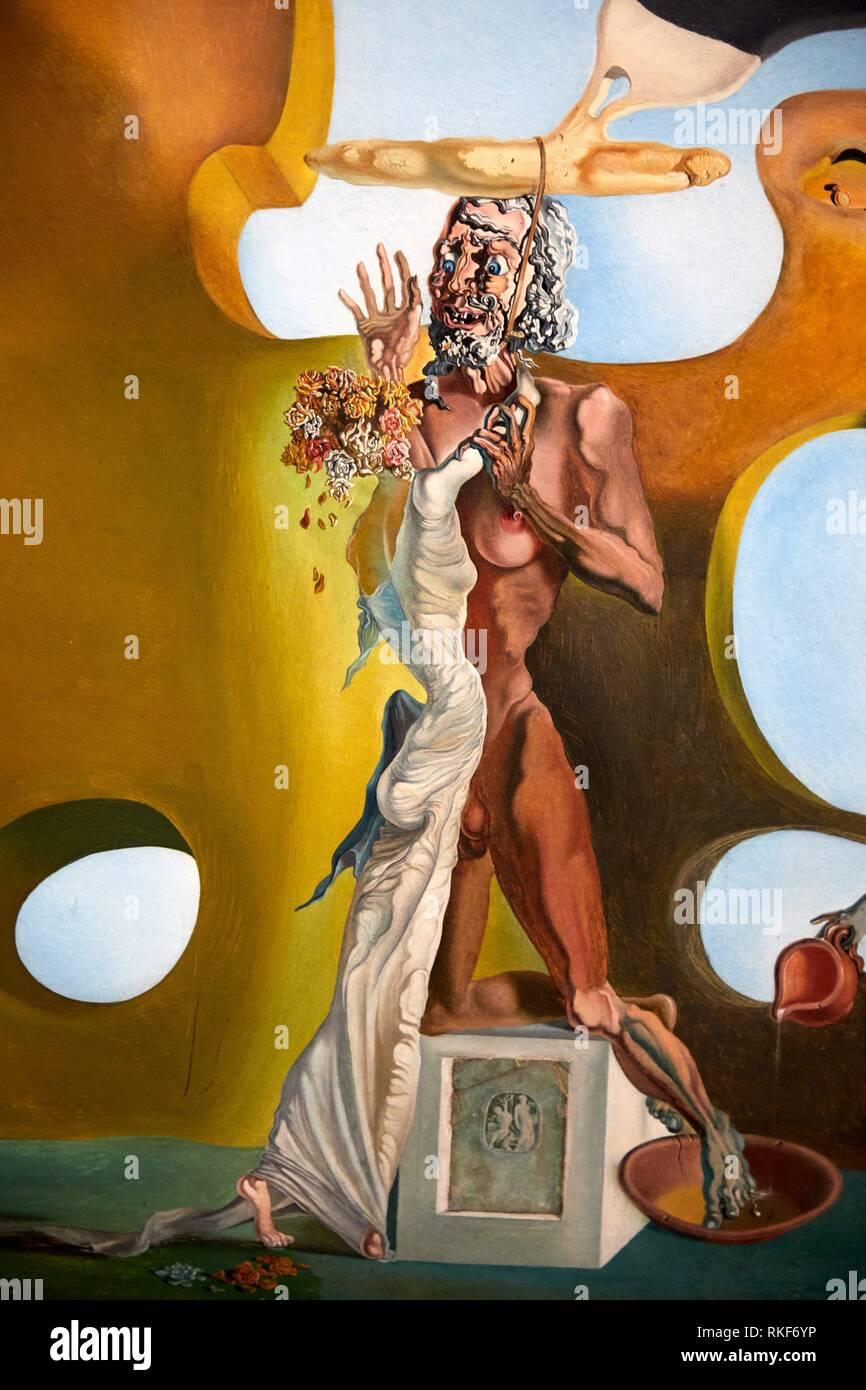 '''Birth of liquid desires'', 1932, Salvador Dalí, Exhibition ''Gala Salvador Dalí. A Room of One's Own in Púbol'', National Museum of Catalan Art, - Stock Image