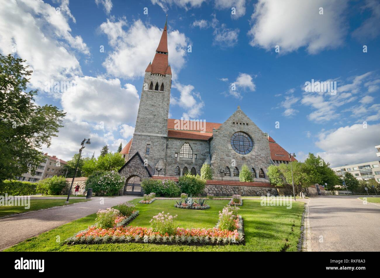 Tampere cathedral, Finland. - Stock Image