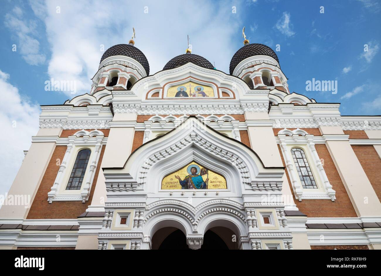 Alexander nevsky cathedral in the medieval city of Tallinn, Estonia. Stock Photo