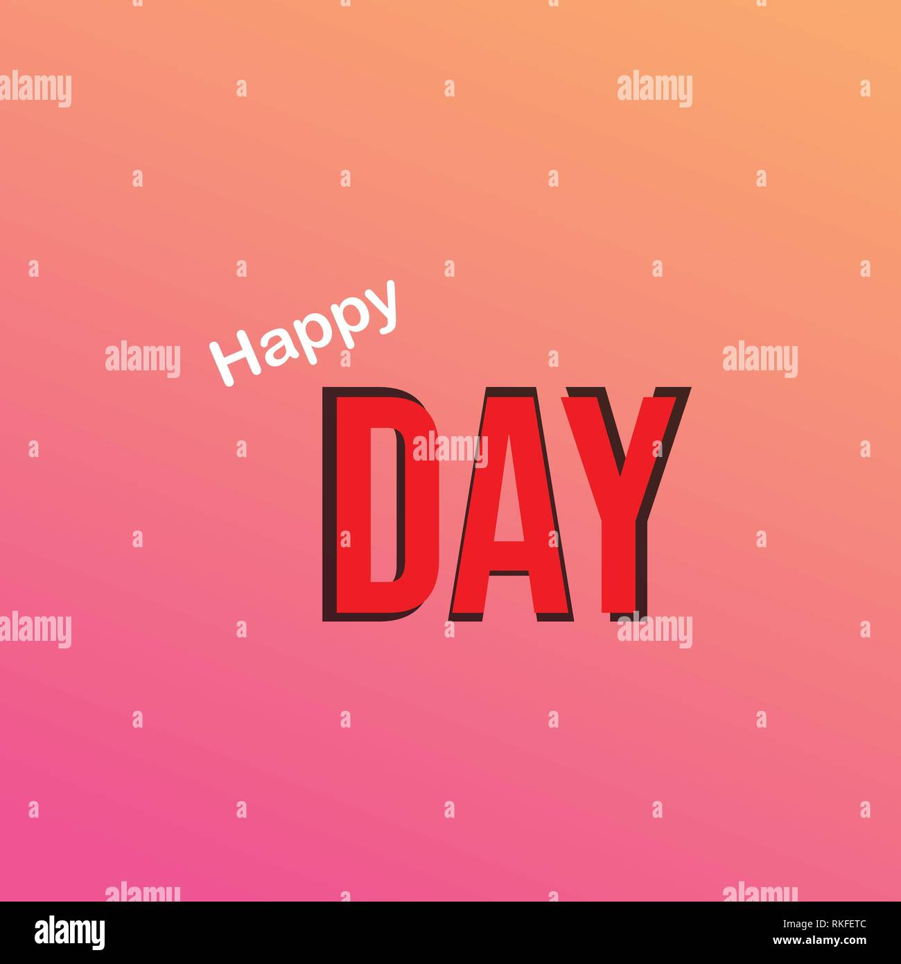 oh happy day. Life quote with modern background vector Stock Vector
