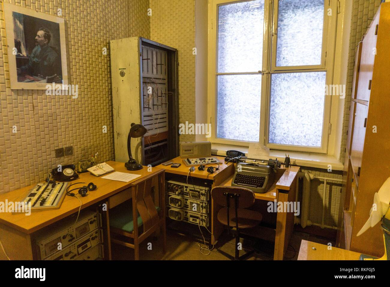 KGB cells. Vilnius. Lithuania. - Stock Image