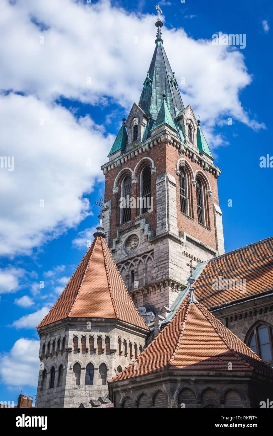 Roman Catholic Saint Stanislaus Church in Chortkiv city in Ternopil Oblast of western Ukraine. - Stock Image