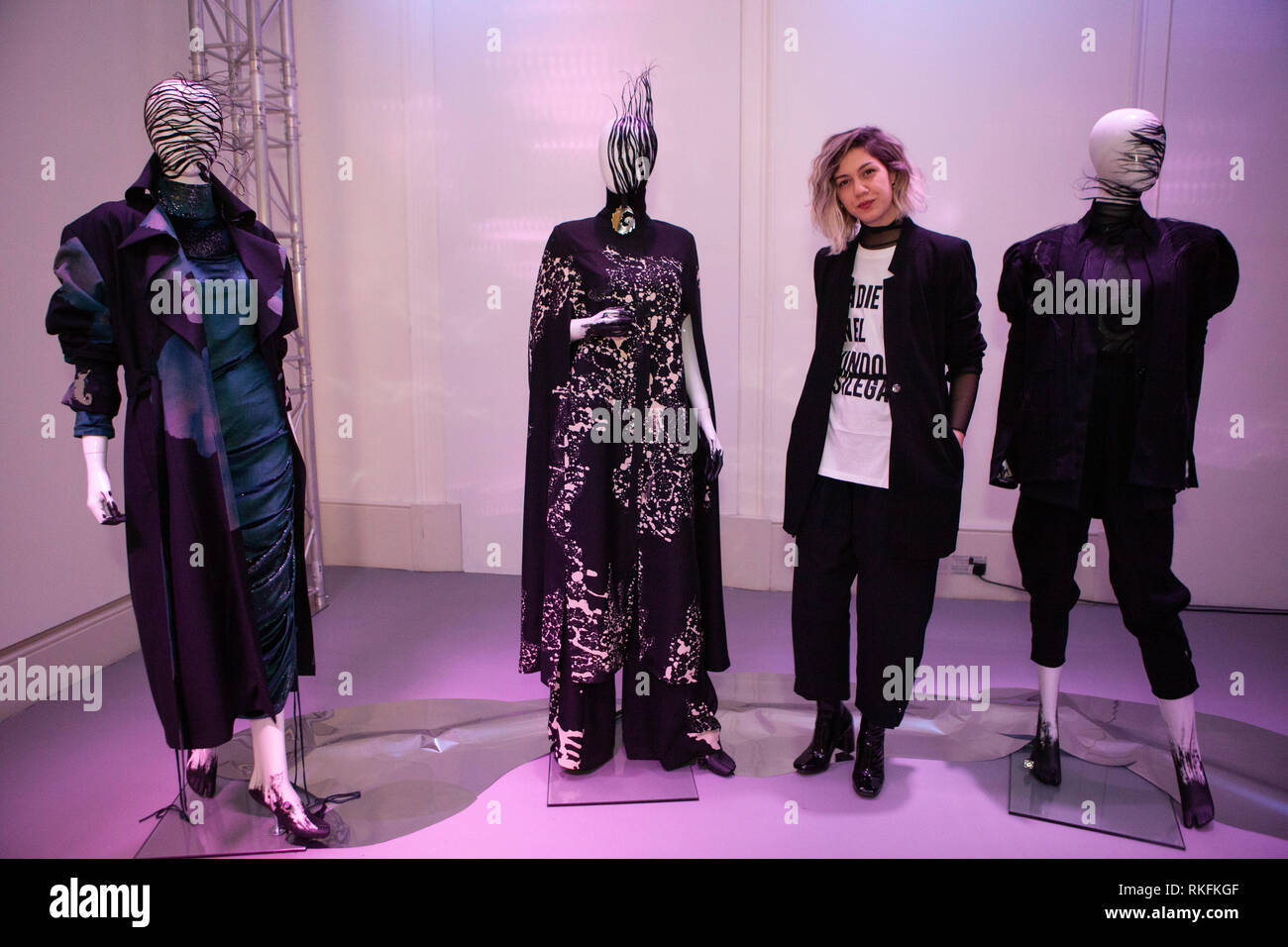 Fashion Designer Clara Aguayo From Uruguay With Some Of Her Work He International Fashion Showcase At Somerset House Ahead Of London Fashion Week P Stock Photo Alamy