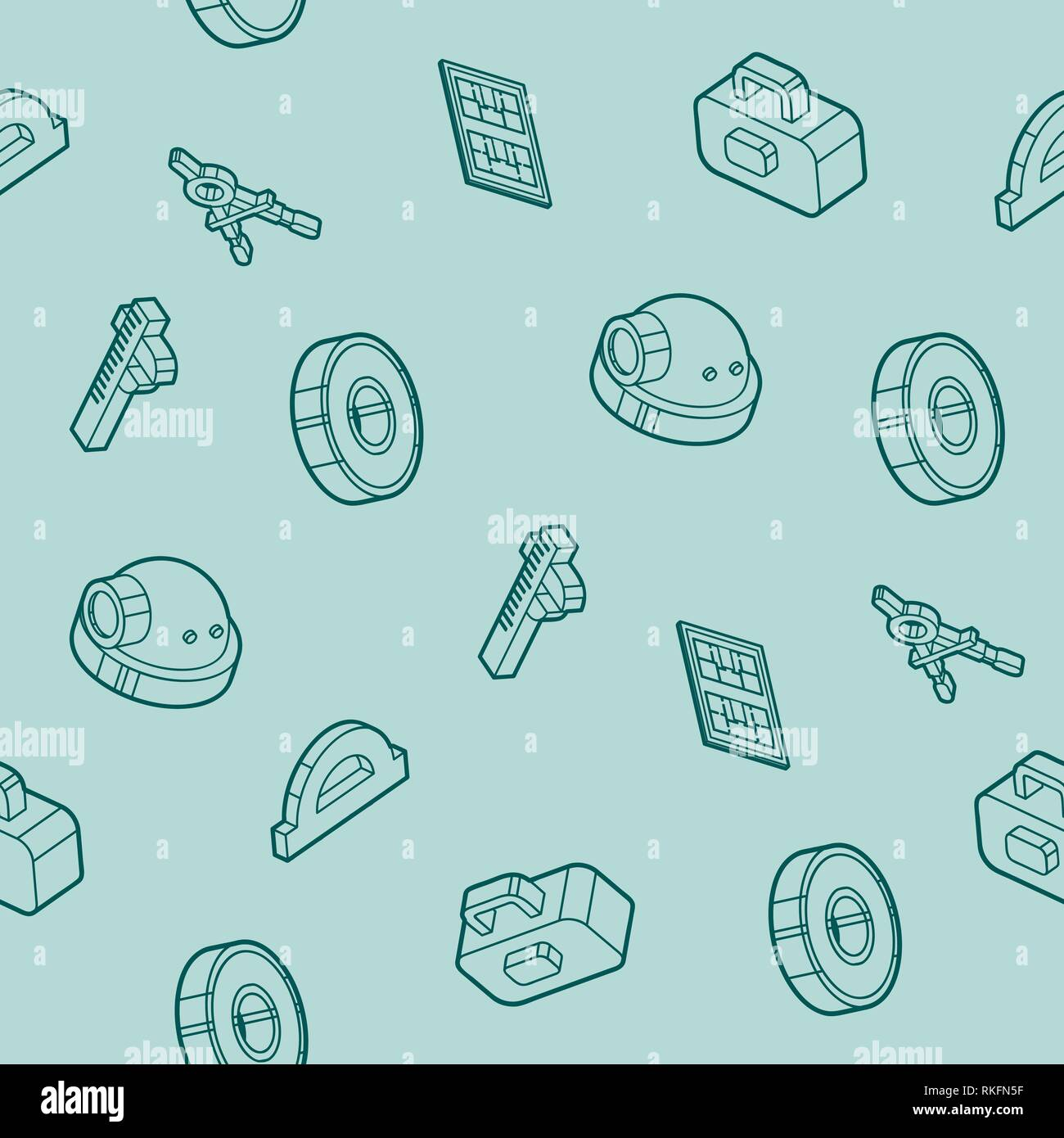 Engineering outline pattern. Construction Engineer. Vector illustration EPS 10 Stock Vector