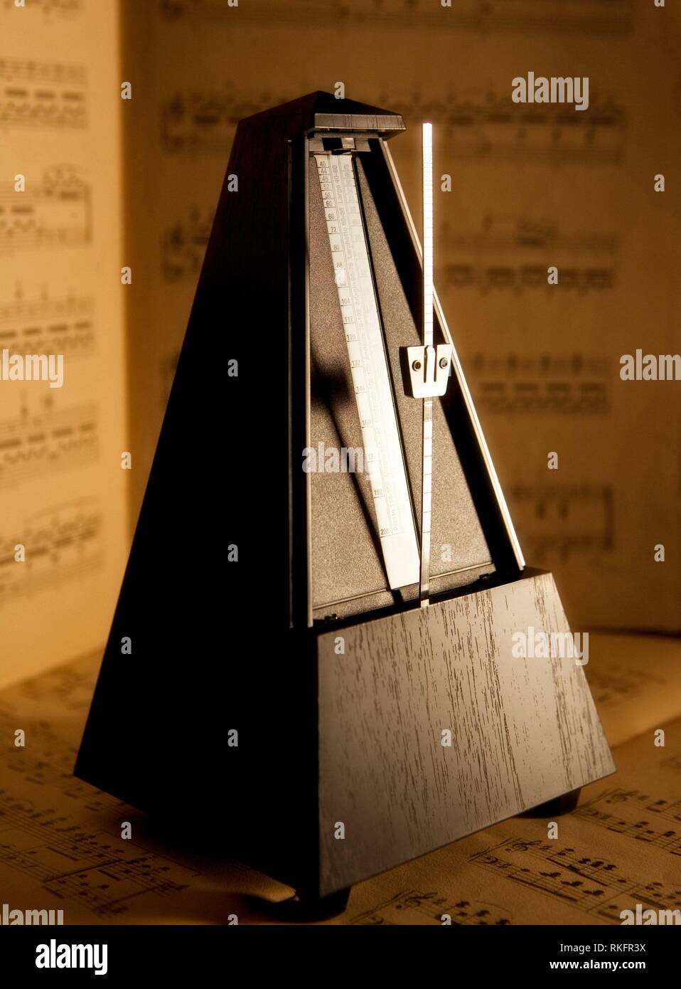 Metronome - The Instrument of Keeping Correct Beat Playing Music. - Stock Image