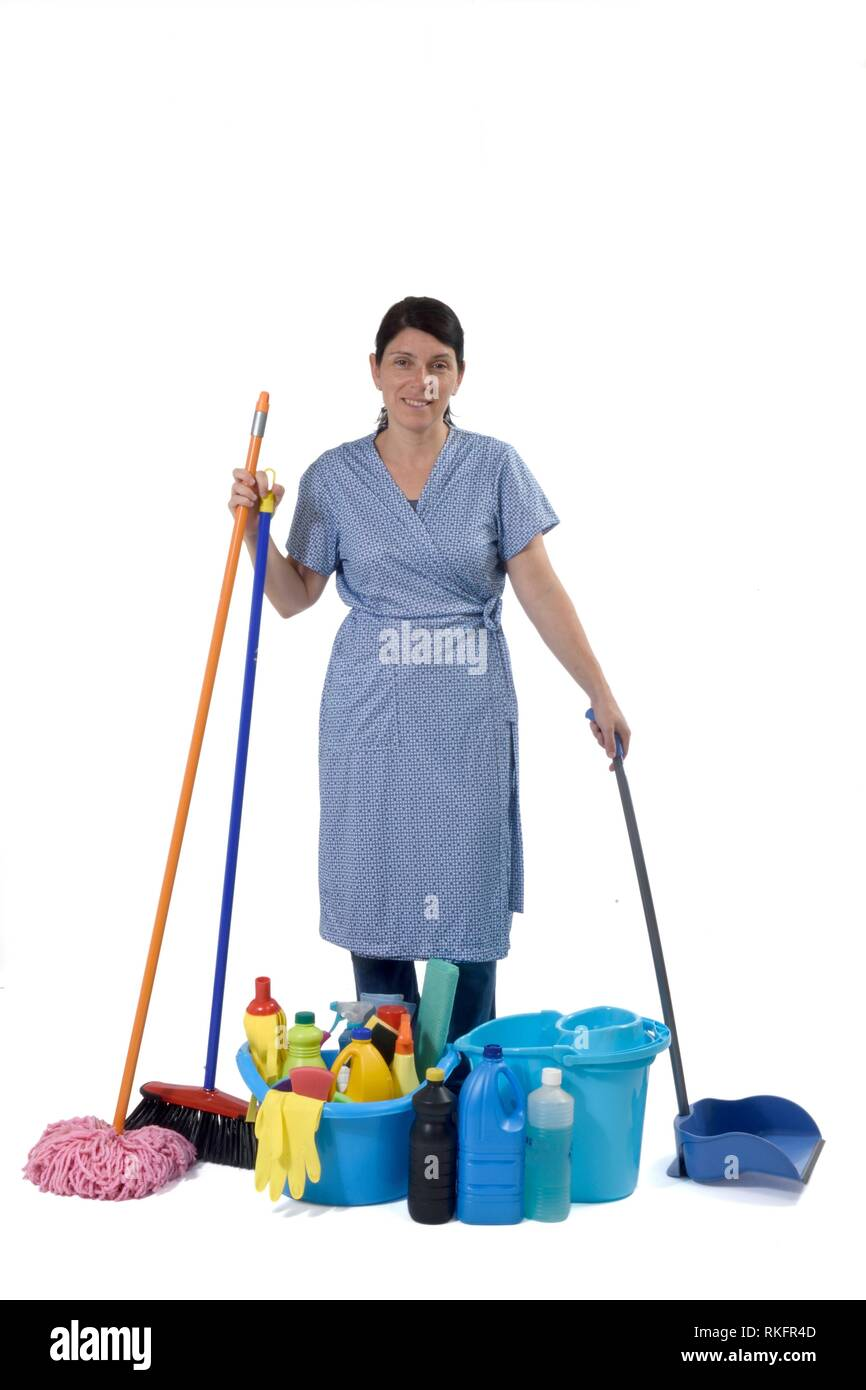 Cleaning Lady Stock Photo Alamy