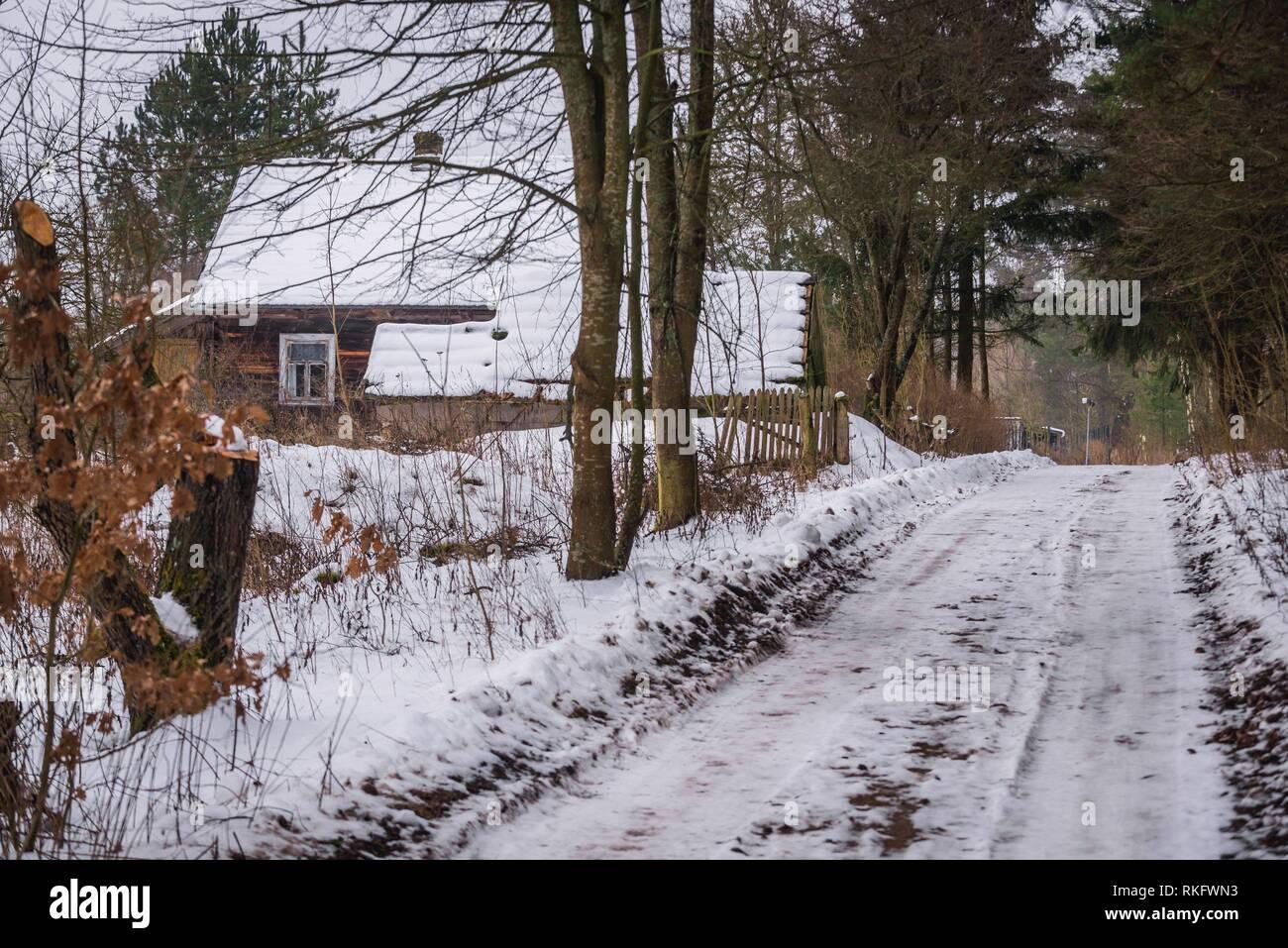 Gruszki village within Hajnowka County, Podlaskie Voivodeship of Poland. - Stock Image