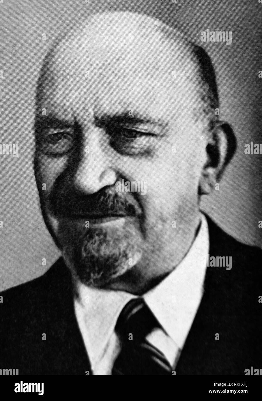 Chaim Weizmann.Chaim Azriel Weizmann (27 November 1874- 9 November 1952) was a Zionist leader and Israeli statesman who served as President of the - Stock Image