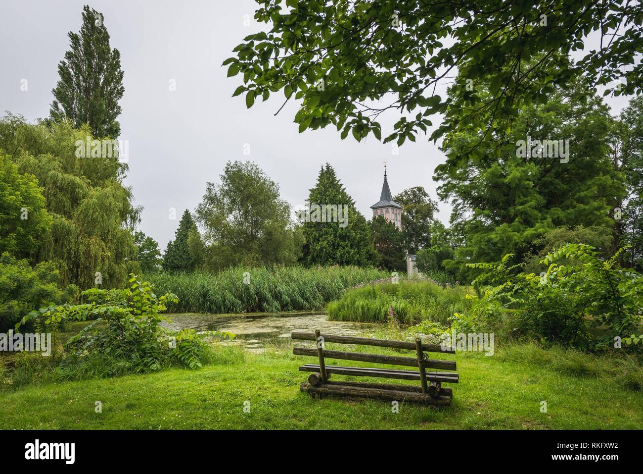 Lenne Park in Criewen, part of Schwedt Oder city in Brandenburg federal state in Germany. - Stock Image