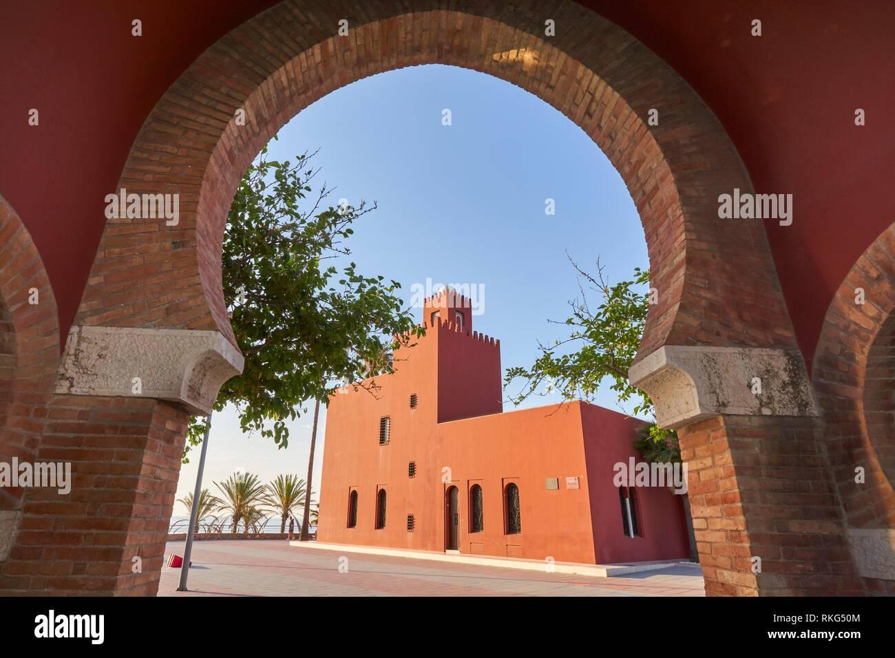 Cultural center of Benalmadena, Malaga. Bil Bil Castle. - Stock Image
