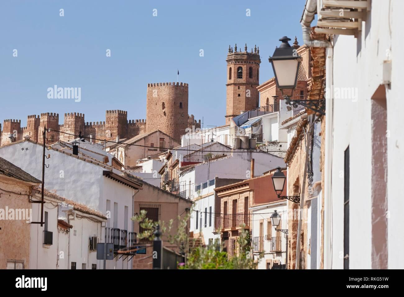 Banos de la Encina, town of Jaén. Andalusia, Spain. - Stock Image