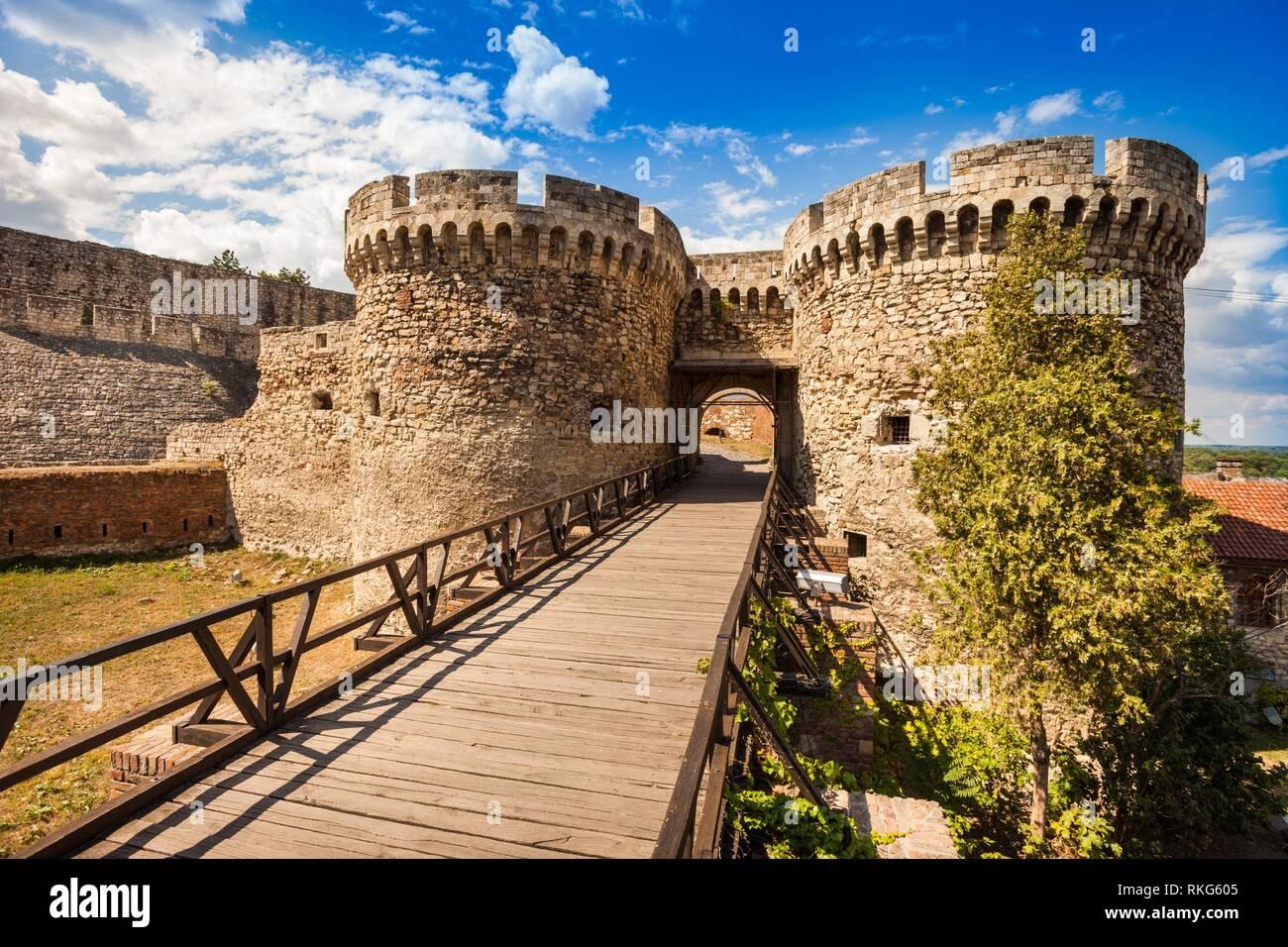 Zindan Gate (Kapija) Complex, Kalemegdan Fortress, Belgrade, Serbia. - Stock Image
