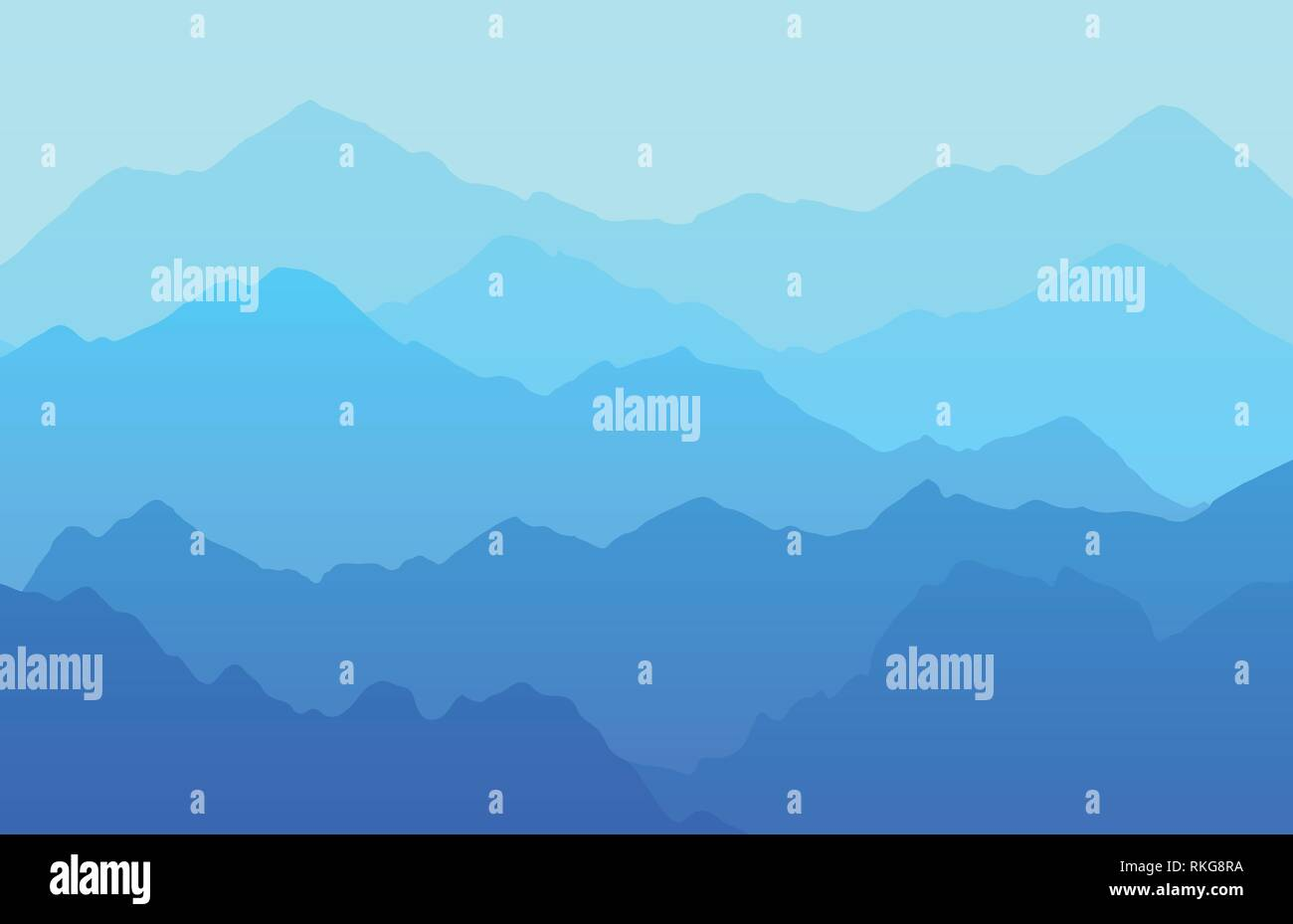 Beautiful vector landscape background with mountains - Stock Vector