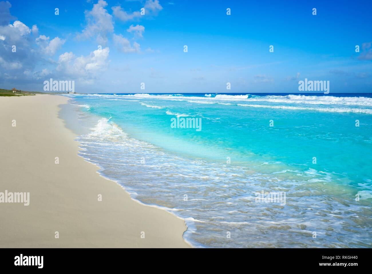 Cozumel island San Martin beach in Riviera Maya of Mayan Mexico. - Stock Image