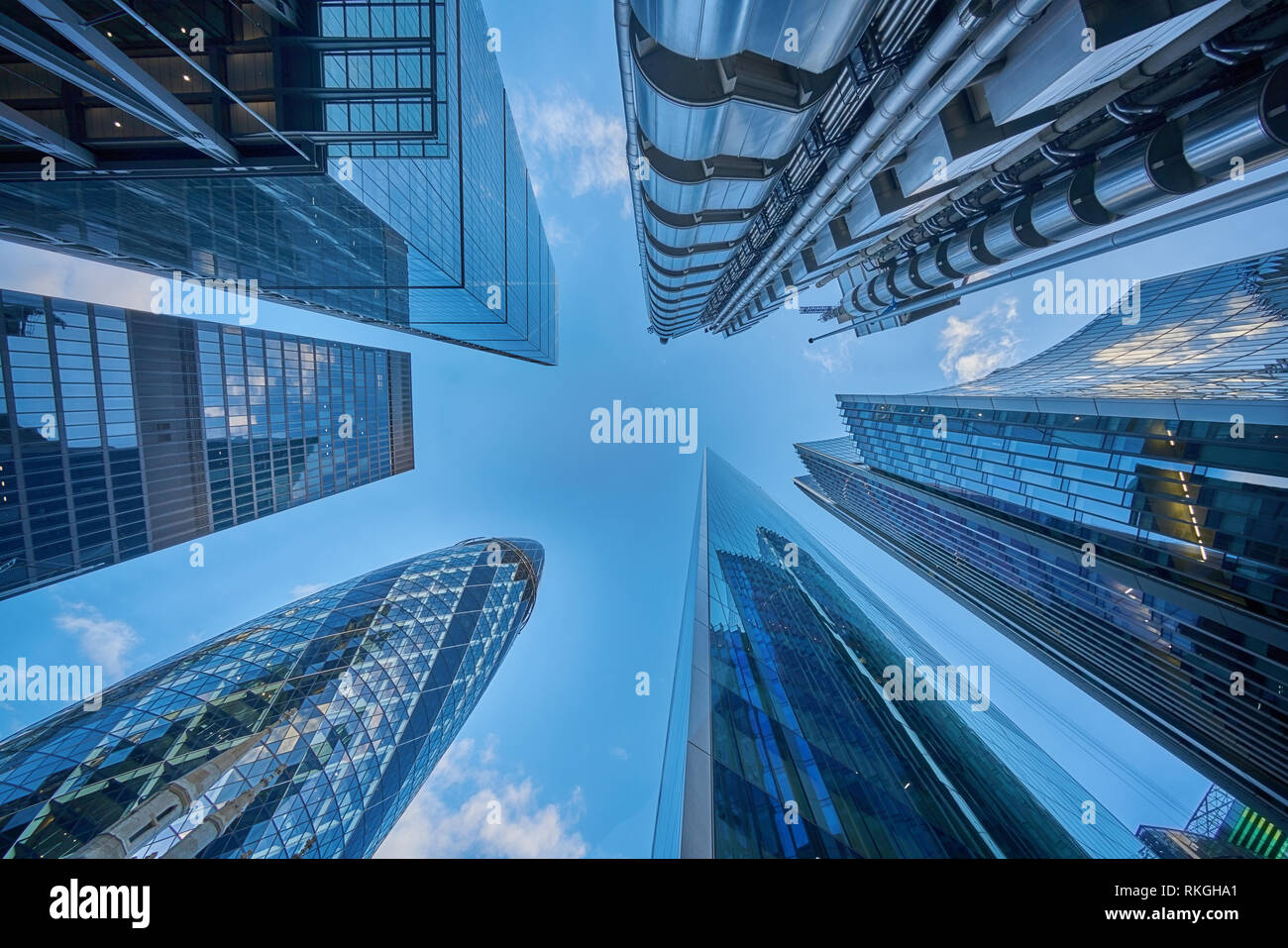 tall towers city of london  london financial distric Stock Photo
