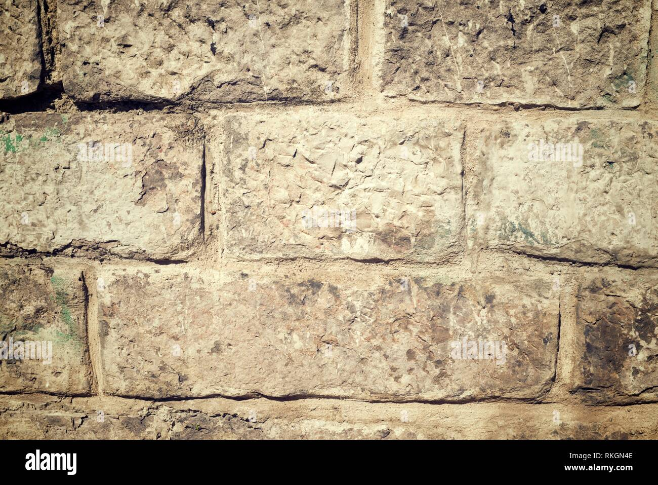 Stone wall background at high resolution. - Stock Image