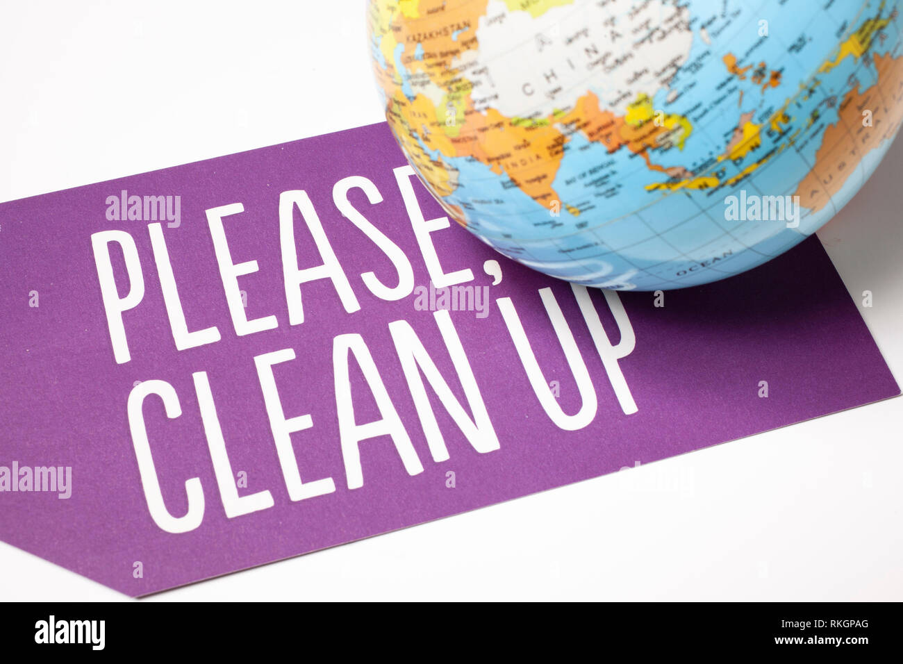 clean up the world - ecological concept - Stock Image