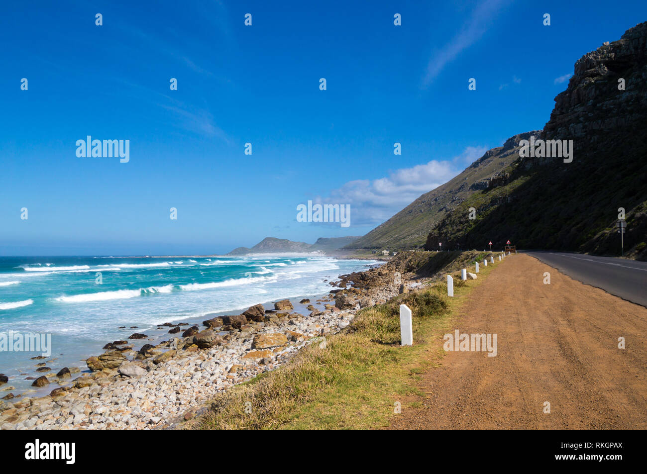 Scenic coastline at the Garden Route, Cape Province, South Africa. Stock Photo