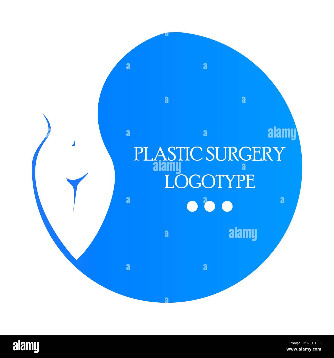Plastic Surgery Clinic Logo Medical Beauty Logotype Emblem With Female Body Body Correction Surgeon Stock Photo Alamy