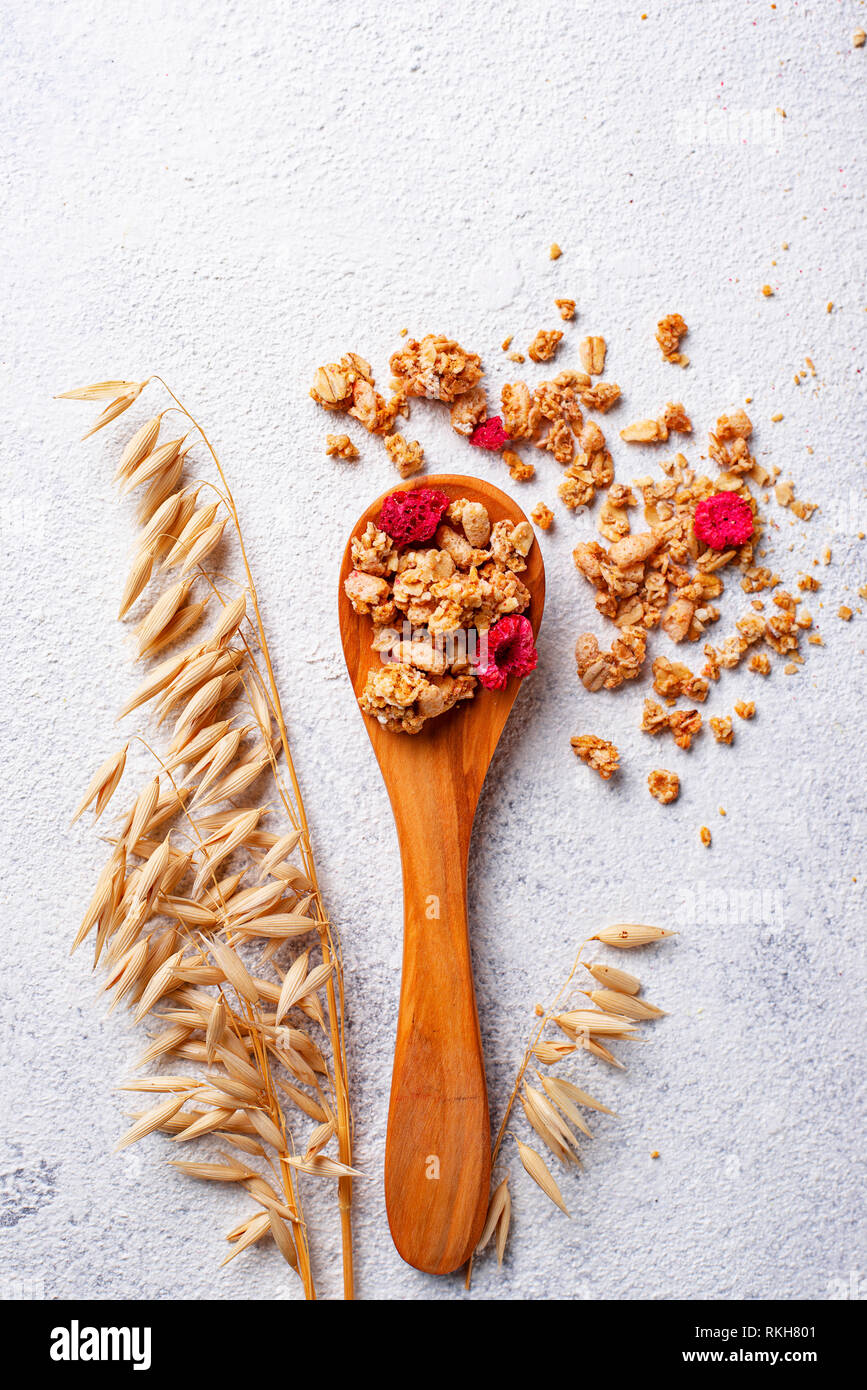 Homemade granola with dried berry - Stock Image