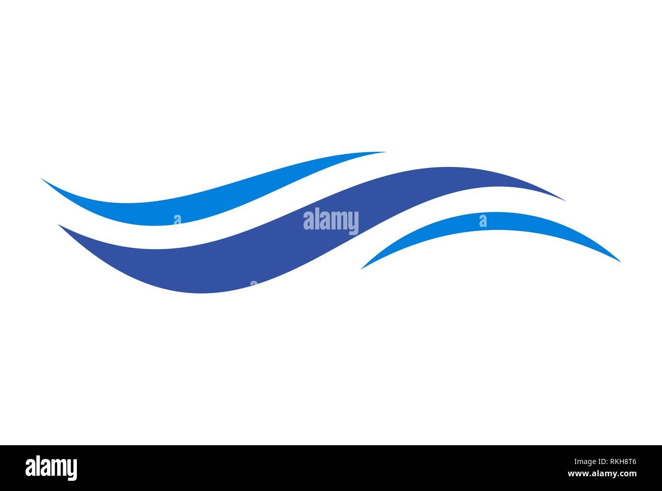 abstract waves vector logo icon vector concept flat design - Stock Image