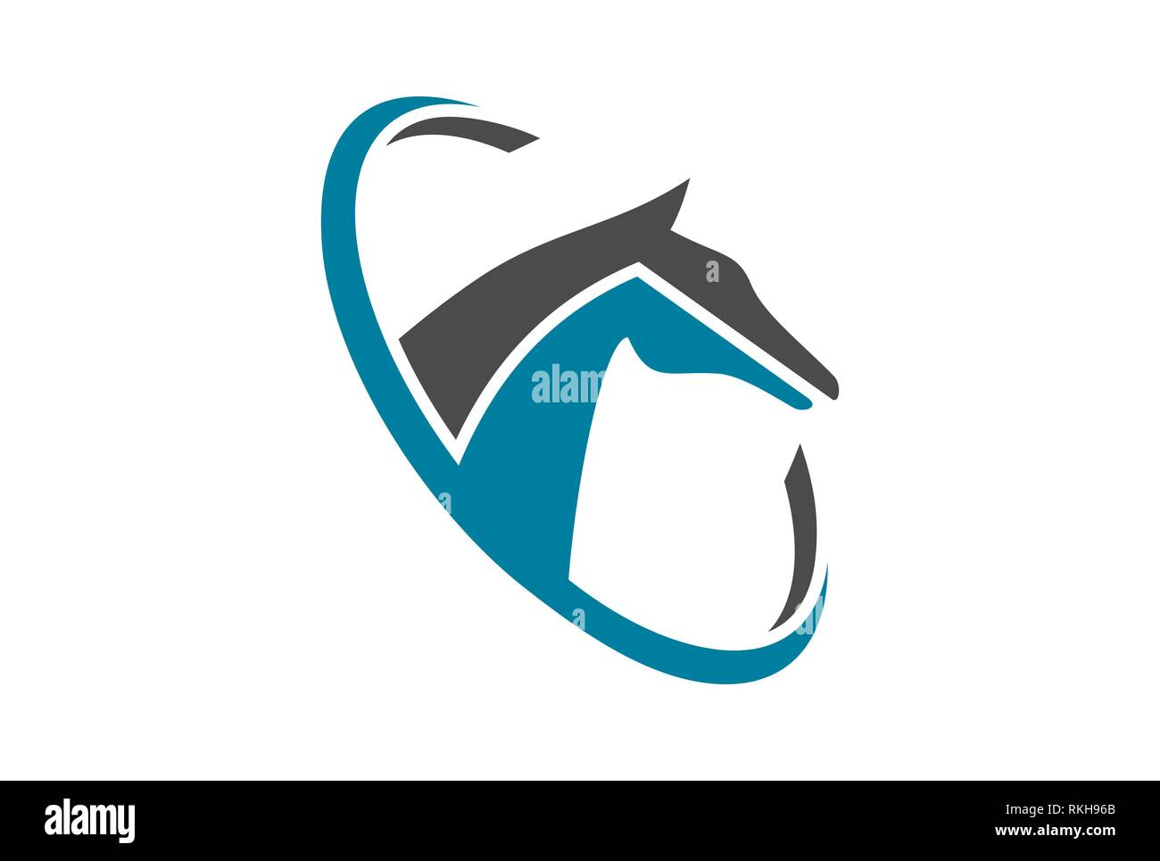 Abstract Horse Geometric Shape Symbol High Resolution Stock Photography And Images Alamy
