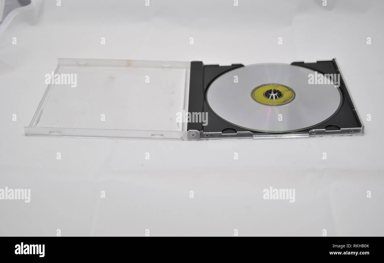 A compact disc in its holder case - Stock Image