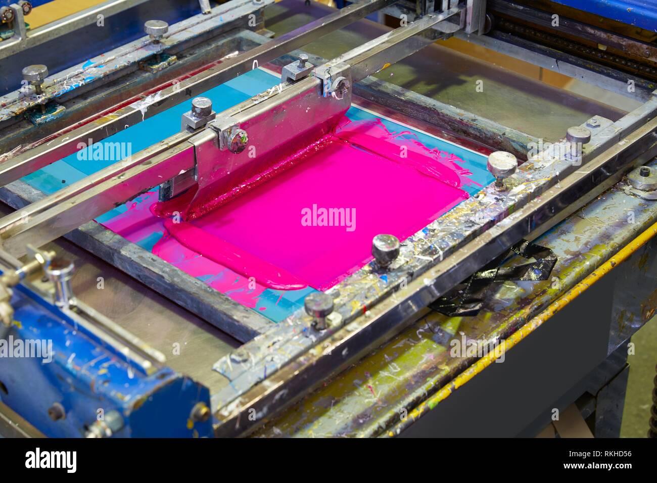 Textile Printing Machine Stock Photos & Textile Printing Machine