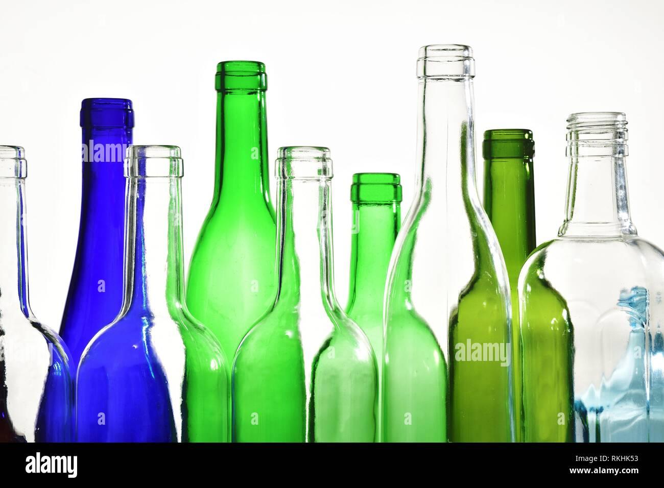 bottlenecks on white background,. - Stock Image