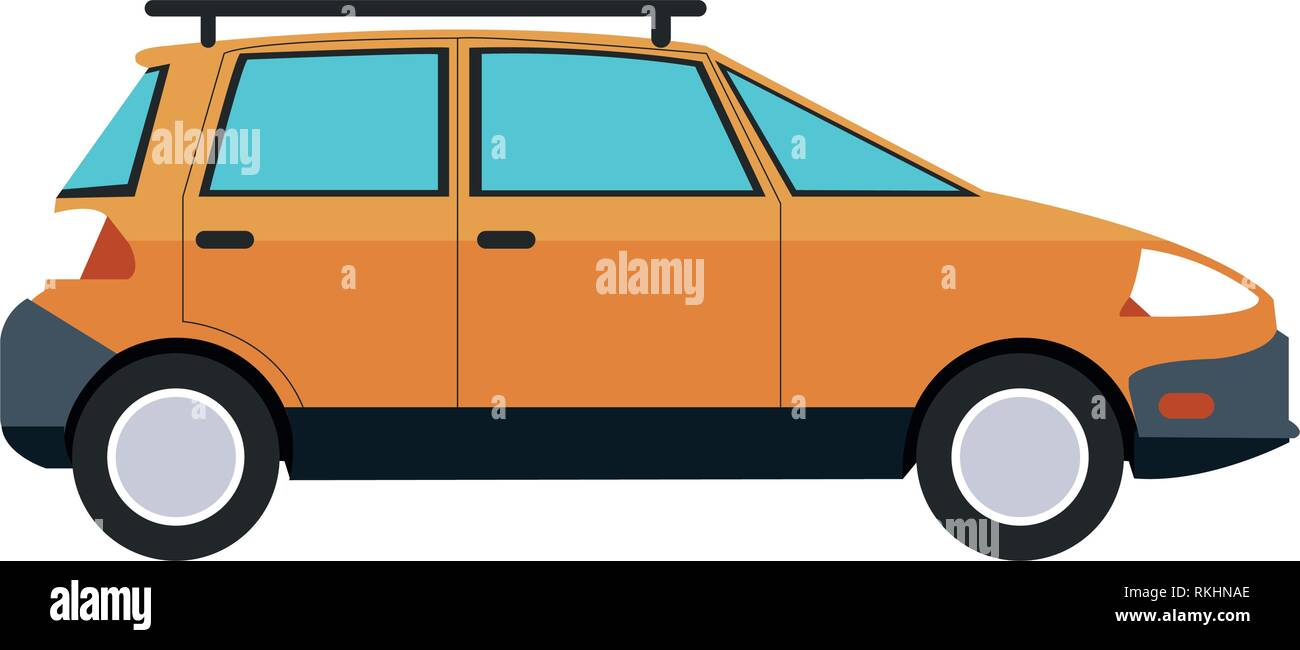Familiar car vehicle sideview - Stock Image