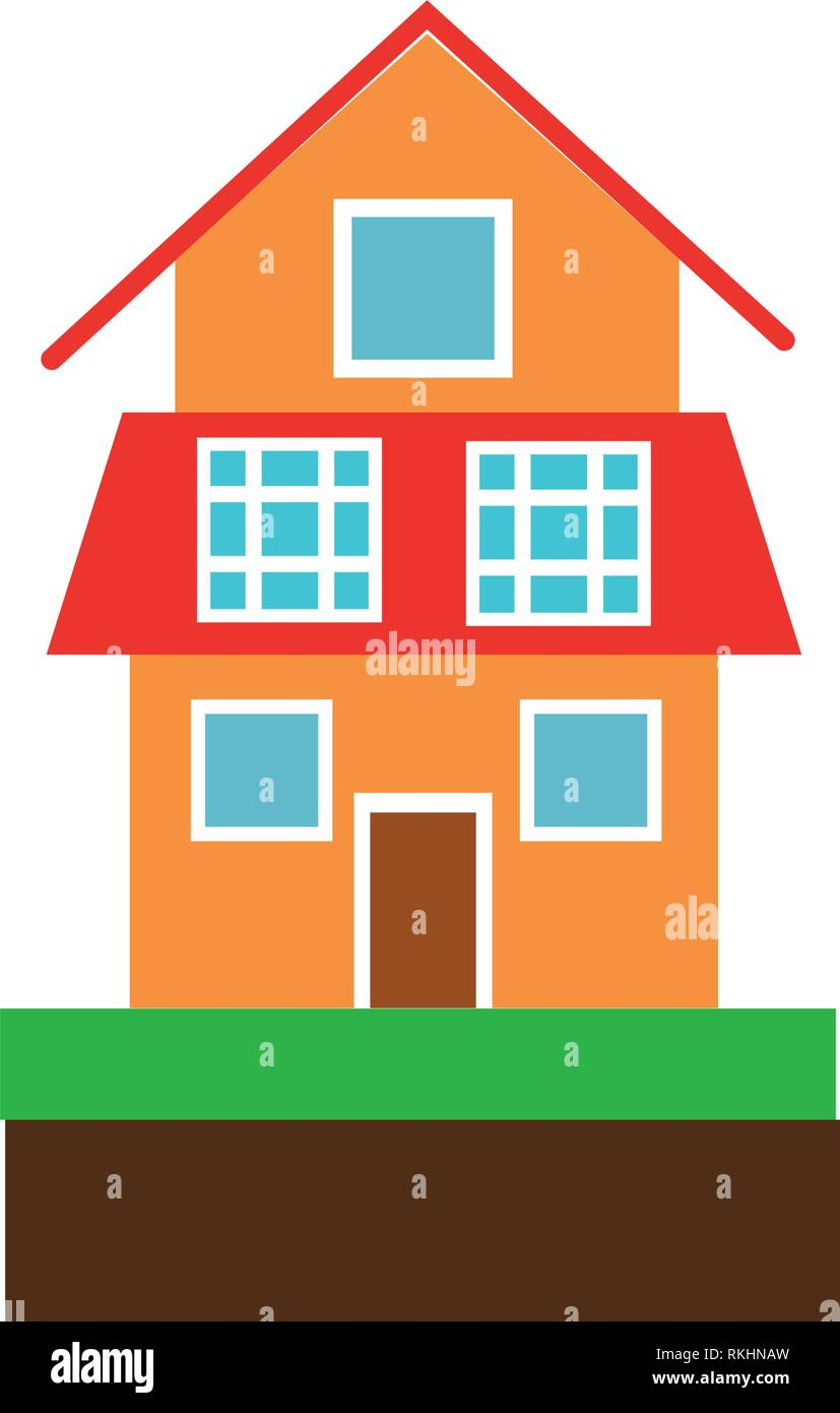 house with solar panels symbol - Stock Vector
