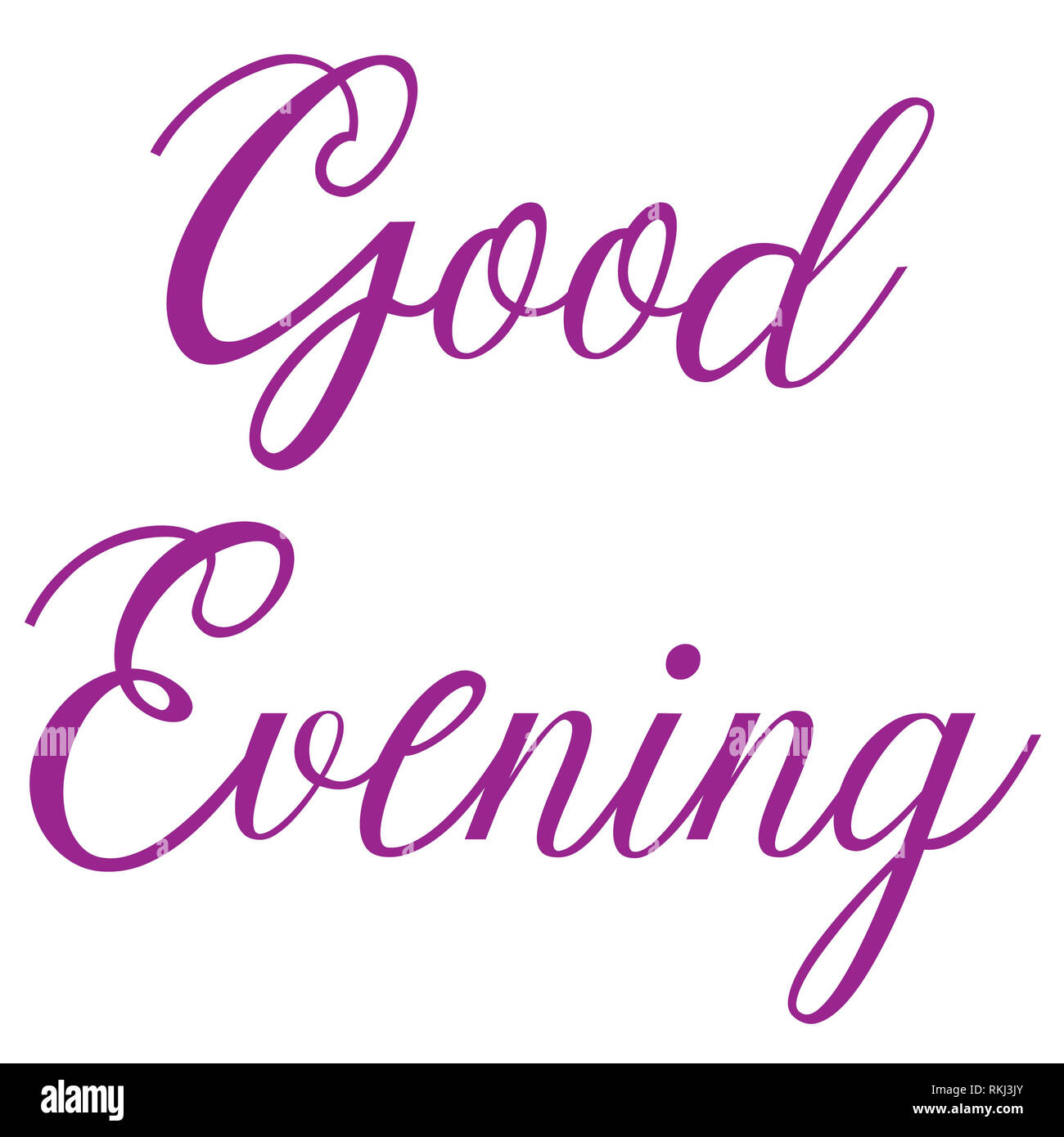 Good evening greetings with style and fashion - Stock Image