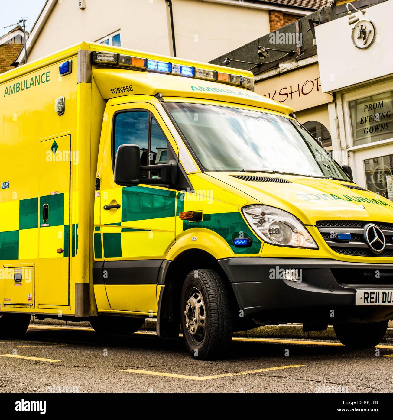 Parked Emergency Ambulance - Stock Image